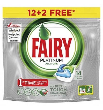 Détergent lave vaisselle Fairy Platinum 12 capsules