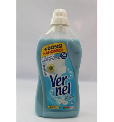 Suavizante Vernel Concentrado 1.4 L Azul 54 dosis