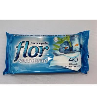 Suavizante Flor Secadora 40 Toallitas