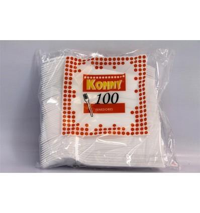 Tenedor Plastico Konny 100 Unidades