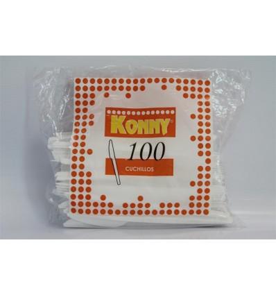 Cuchillo Plastico Konny Grande 100 Unidades