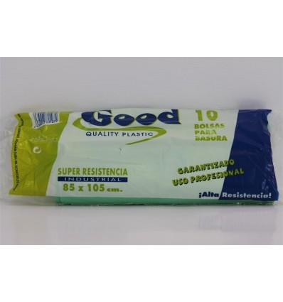 """Bolsas Basura Verde Comun 85x105 Eliot G-110 """"profesional"""""""