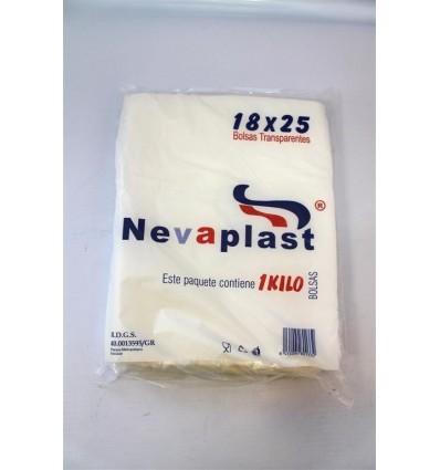 Bolsa Plastico Transparente 18 X 25 Nevaplast