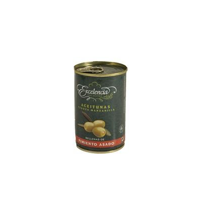 Olijven Excelencia gevulde Paprika 500 Grs130g