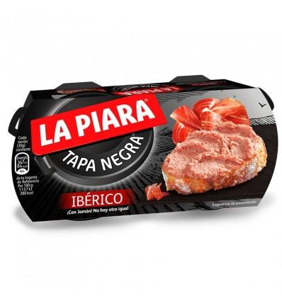 Paté Ibérico Tapa Negra Pack 2x73g La Piara