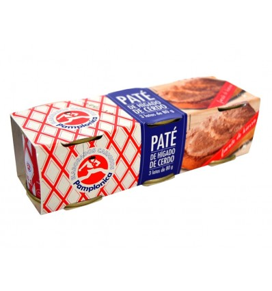 Pamplonica Pork liver pate Pack 3x80 gr