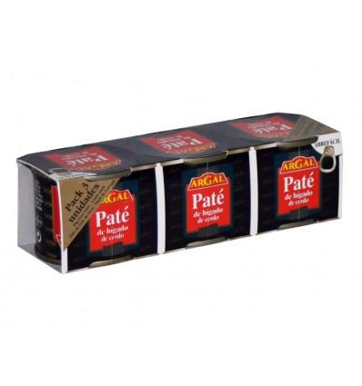 Pâté de foie de porc 3x80 gr Pack Argal