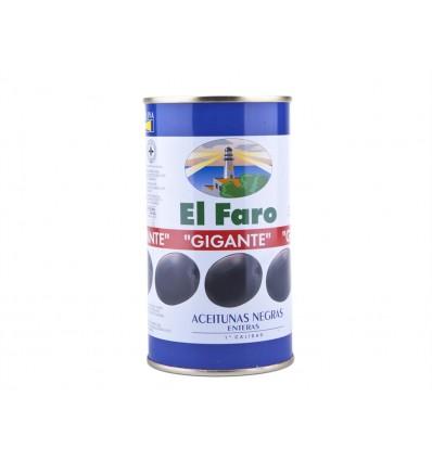 Aceitunas Negras Enteras El Faro Gigantes 350g