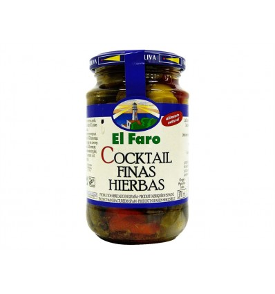 Cocktail di cetrioli e olive con erbe pregiate El Faro 350g