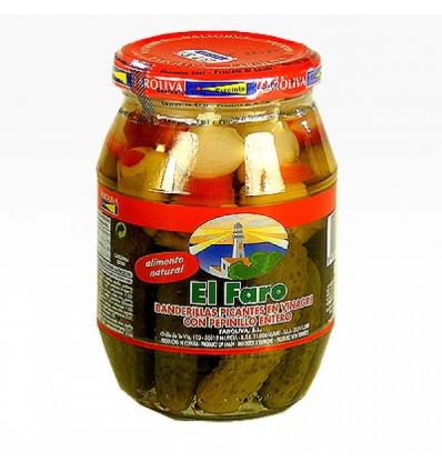 Banderillas piccanti con cetriolino El Faro 370g