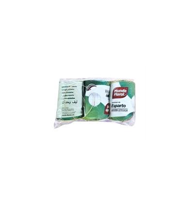 Estropajo Vegetal Esparto Mundo floral Pack-3
