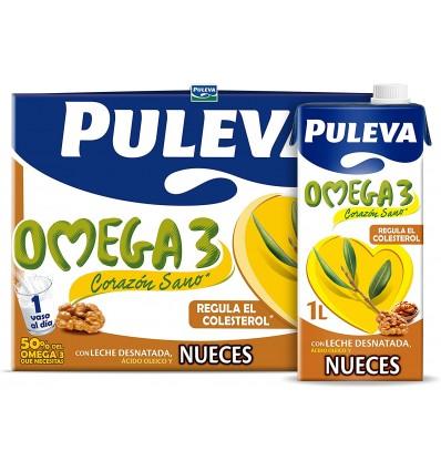 Leche Desnatada con Omega 3 y Nueces Brik 1l Puleva