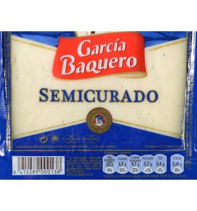 Queso Semicurado Cuña 250g García Baquero