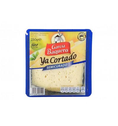 Queso Semicurado Cortado Cuña 250g García Baquero