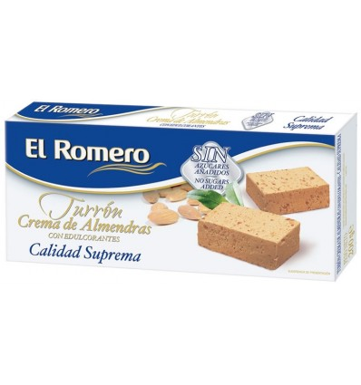 Turron Blando Sin Azucar 200 Gr El Romero