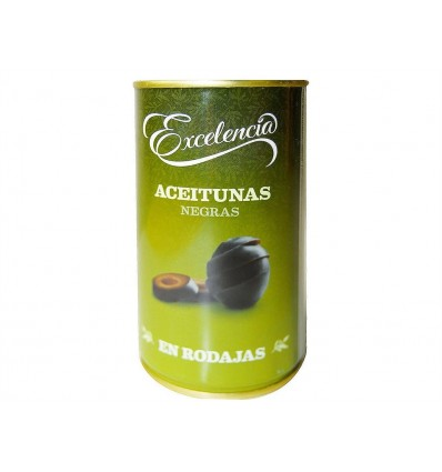 Olives noires tranchées Pot en verre 150ml Excelencia