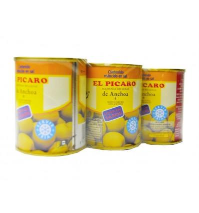 Olives farcies à l'anchois Pack 3x50g Picaro