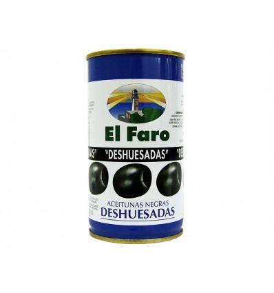 Olives noires dénoyautées 1er Cat. Conserve 350g El Faro