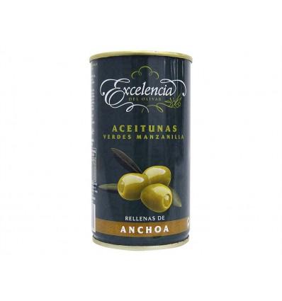 Olives Manzanilla farcies aux anchois Cat Extra Conserve 350g Excelencia