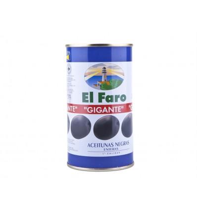 Aceituna Negra Entera Lata 350g El Faro