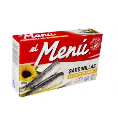 Sardinillas en Aceite de Girasol Lata 90g El Menú