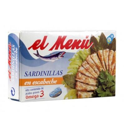 Sardinillas en Escabeche Lata 90g El Menú