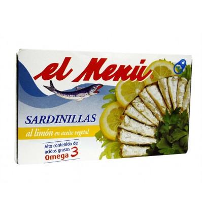 Sardinillas al Limón en Aceite de Girasol Lata 90g El Menú