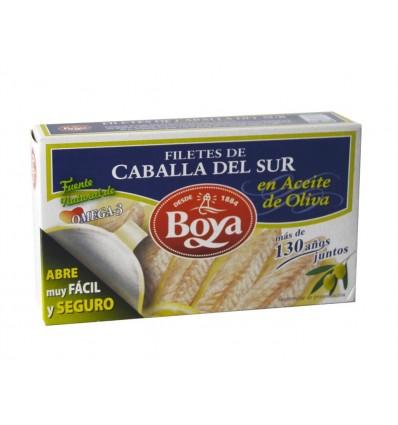 Filetes de Caballa del Sur en Aceite de Oliva Lata 83g Boya