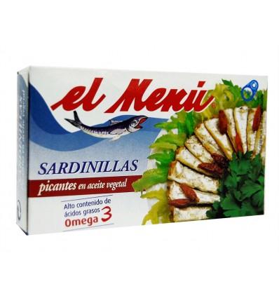Sardinillas Picantes en Aceite Vegetal Lata 90g El Menú