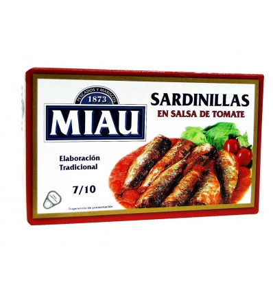 Sardinillas en Salsa de Tomate Lata 85g (7-10ud) Miau
