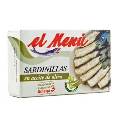 Sardinillas en Aceite de Oliva Omega3 Lata 90g El Menú