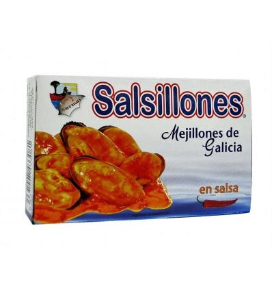 Mejillones Salsillones en Salsa Lata 111g Cermar