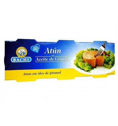 Atún en Aceite Vegetal Pack 3x85g Bachi