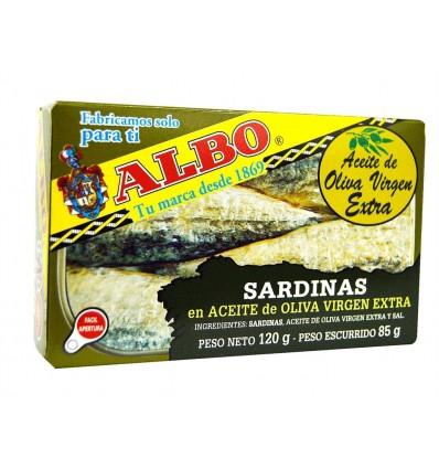 Sardinas en Aceite de Oliva Virgen Extra Lata 120g Albo