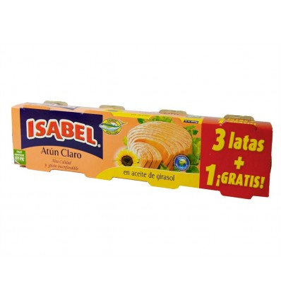 Atún Claro en Aceite Girasol Alto Oleico Pack 3x80g Isabel