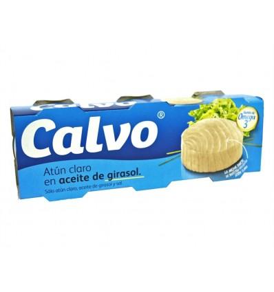 Atún Claro en Aceite de Girasol Pack 3x80g Calvo