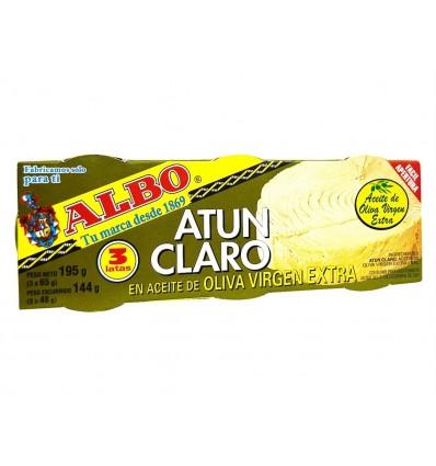 Atún Claro en Aceite de Oliva Virgen Extra Pack 3x65g Albo