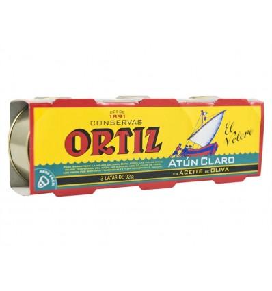 Atún Claro en Aceite de Oliva Pack 3x92g El Velero Ortiz