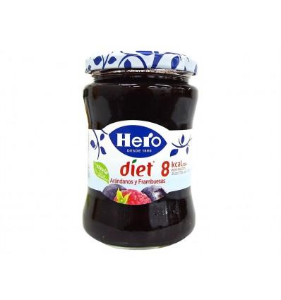 Mermelada de Arándanos y Frambuesa Tarro 280g Hero Diet