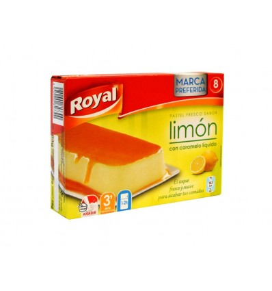 Pastel de Limón y Caramelo Caja 8 Raciones 103g Royal