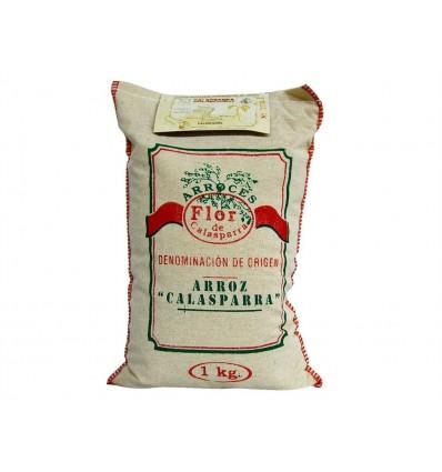 Riz rond Calasparra DO pour paella Saquito 1kg Flor de Calasparra