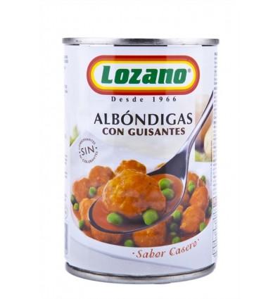 Albóndigas con Guisantes Tarro 425g Lozano