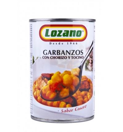 Garbanzos con Chorizo Lata 425g Lozano
