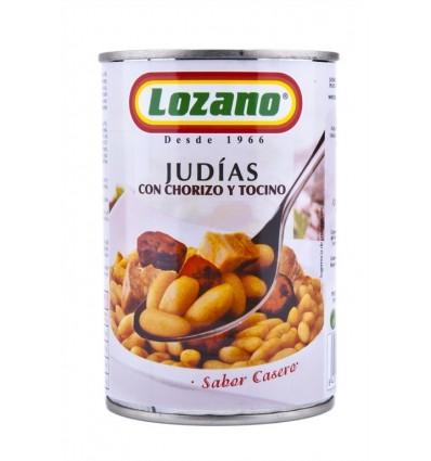 Judías con Chorizo Lata 425g Lozano