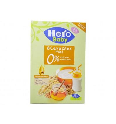 Papilla 8 Cereales con Miel 0% Azúcares Caja 340g Hero