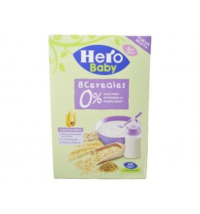 Bouillie 8 céréales 0% de sucres ajoutés Boite 340g Hero
