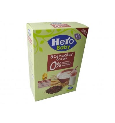 Bouillie 8 céréales au cacao Boite 340g Hero