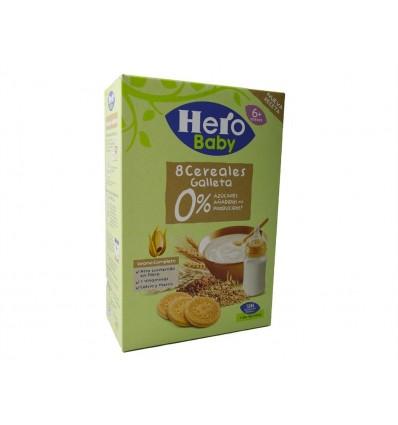 Papilla 8 Cereales con Galleta 0% Azucares Caja 340g Hero