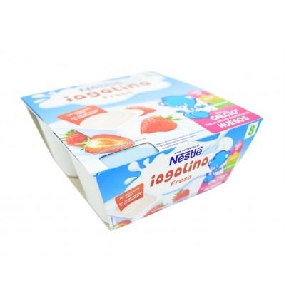 Dessert pour enfants Yogolino aux fraises Pack 4x100g Nestlé