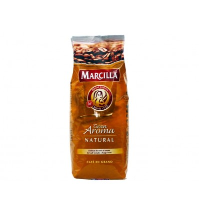 Café en Grano Natural Paquete 1kg Marcilla